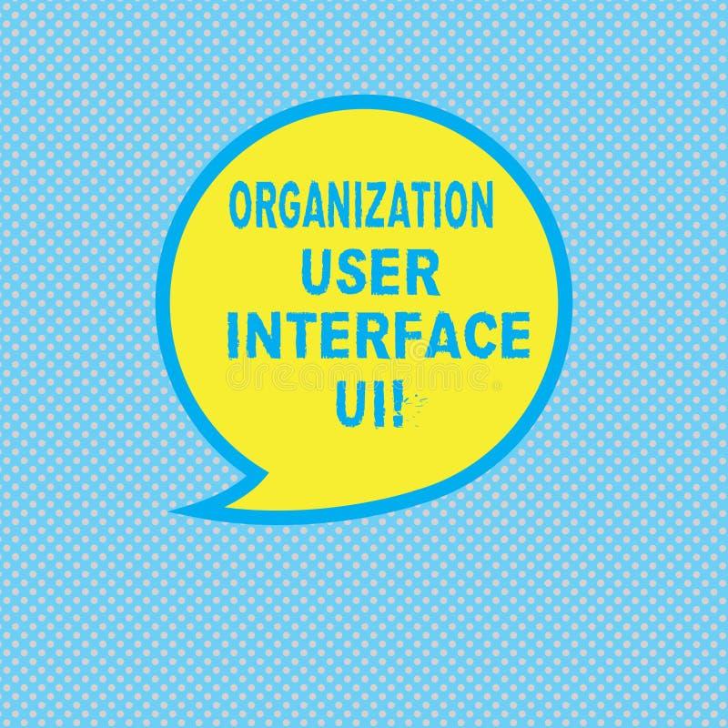 Interfaz de usuario Ui de la organización de la demostración de la muestra del texto Espacio en blanco en línea de las estrategia ilustración del vector