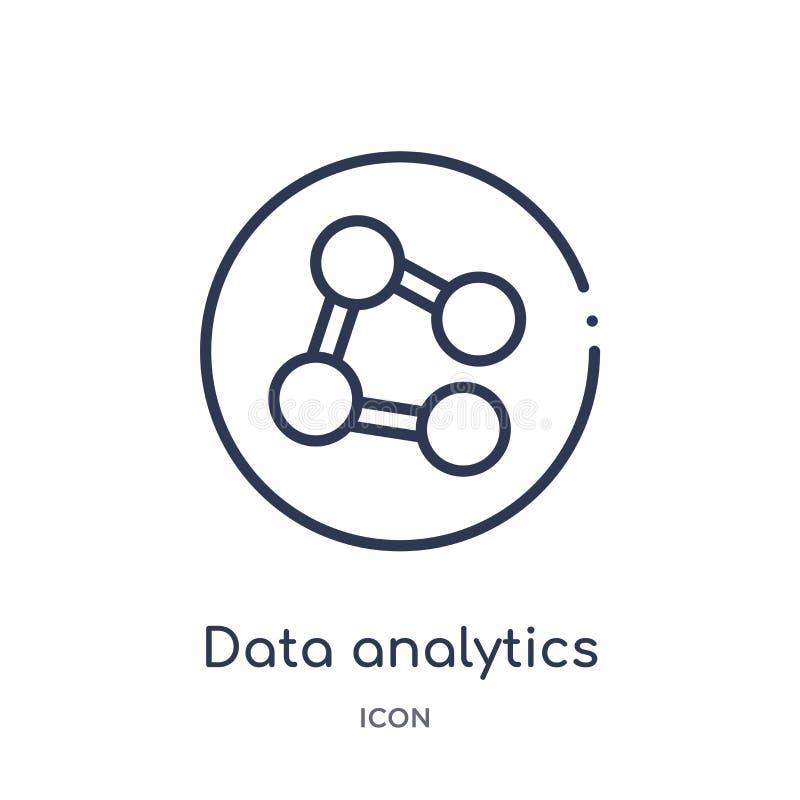 interfaz del analytics de los datos del icono conectado de los círculos de la colección del esquema de la interfaz de usuario Lín stock de ilustración