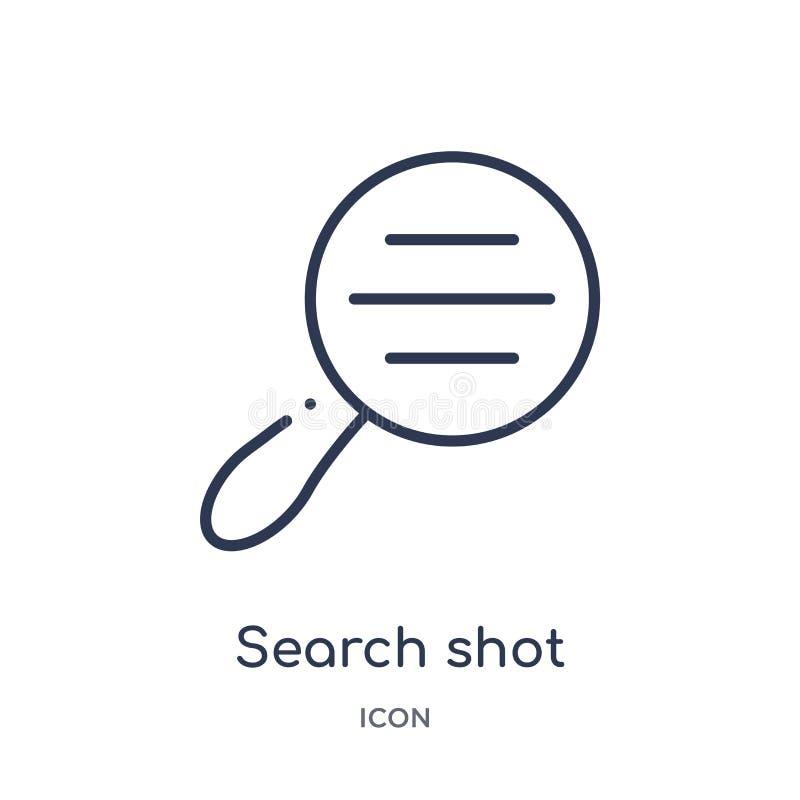 interfaz del tiro de la búsqueda con un icono de la herramienta de la lupa de la colección del esquema de la interfaz de usuario  stock de ilustración