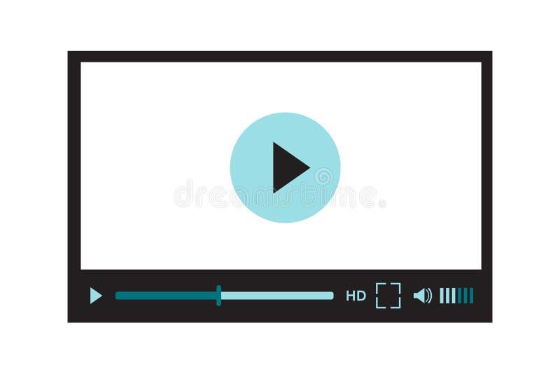 Interfaz del vídeo para el diseño o la aplicación móvil del sitio web Ejemplo del vector en blanco libre illustration
