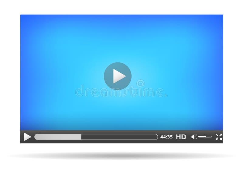 Interfaz del vídeo para el sitio web stock de ilustración