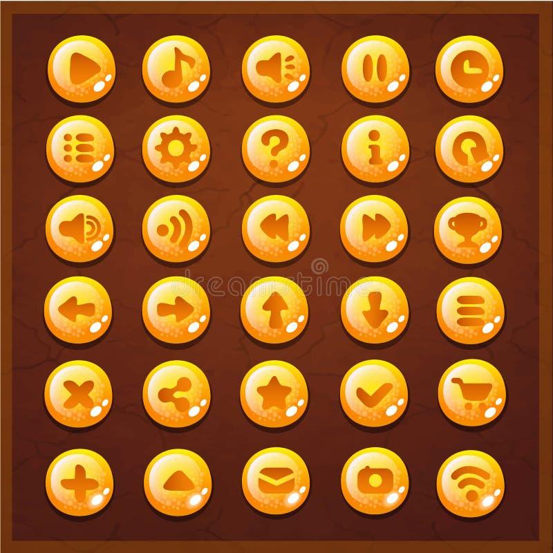 Interfaz determinado de los botones del juego UI libre illustration