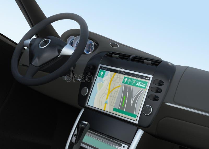Interfaz elegante de la navegación del coche en diseño original ilustración del vector