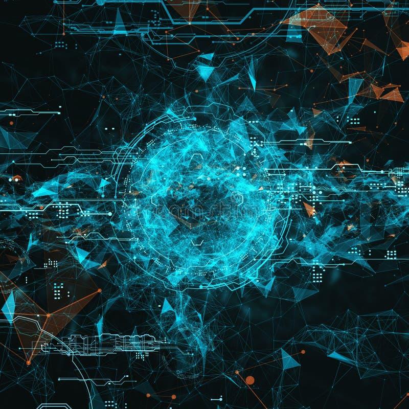 Interfaz futurista del holograma stock de ilustración