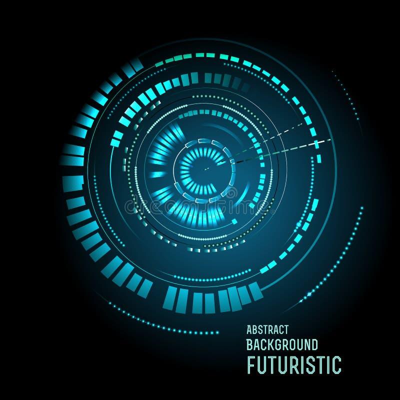 Interfaz futurista, HUD, ciencia ficción ilustración del vector