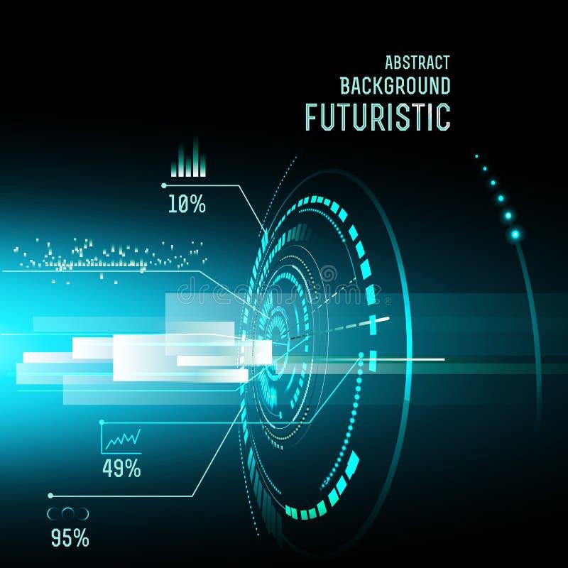 Interfaz futurista, HUD, imfographics, libre illustration
