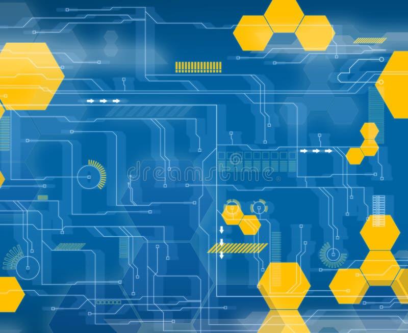 Interfaz futuro azul ilustración del vector
