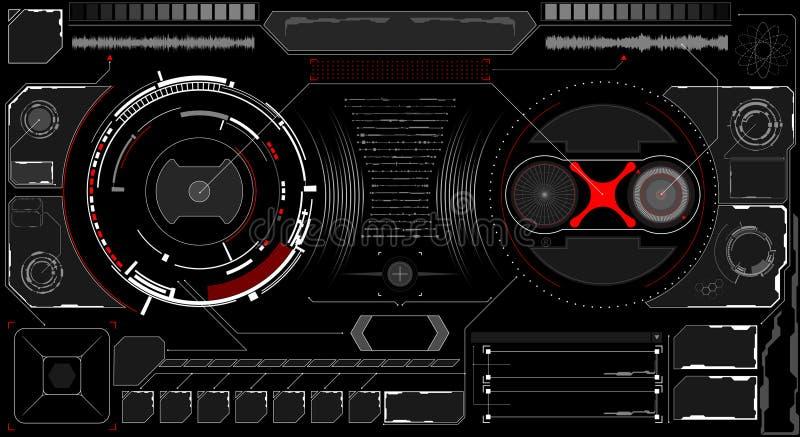 Interfaz futuro Elementos de Digitaces libre illustration