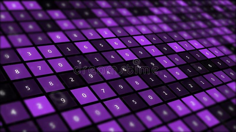 Interfaz gráfico futurista en el fondo de las unidades centrales simétricas fantásticas del número libre illustration