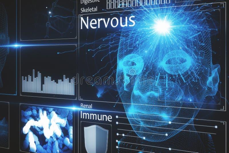 Interfaz médico creativo ilustración del vector