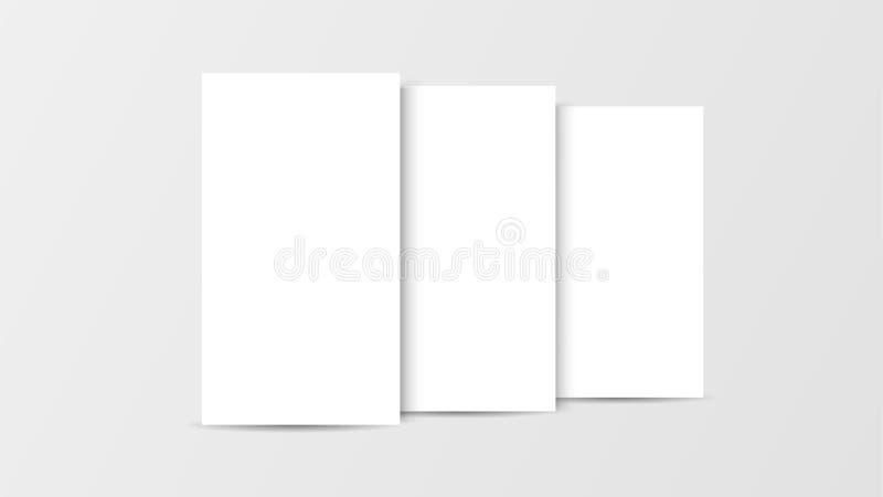 interfaz móvil del app de la maqueta 3D Pantalla en blanco del app Relación de aspecto horizontal del 9:16 en el tono blanco del  stock de ilustración