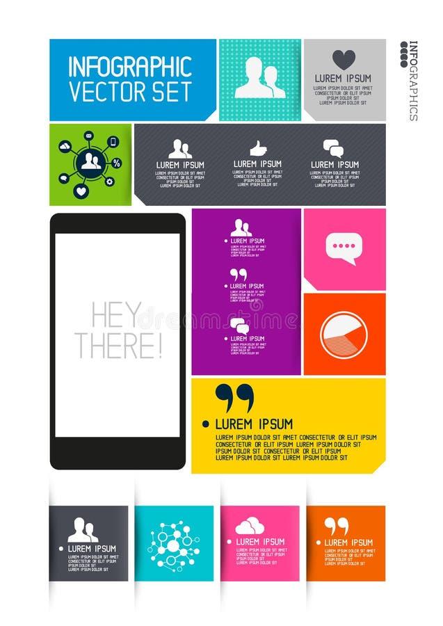 Interfaz moderno de Infographics ilustración del vector