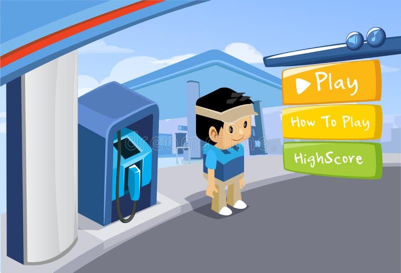 Interfaz para el juego - vector imagen de archivo libre de regalías