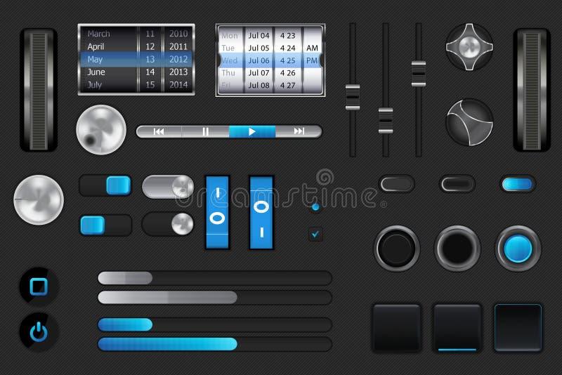 Interfaz utilizador gráfico para el iphone, ipad, androide libre illustration