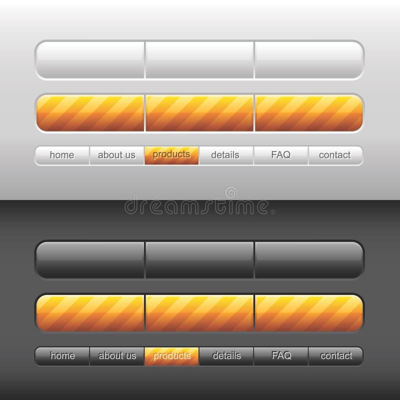 Interfaz utilizador moderno del vector libre illustration