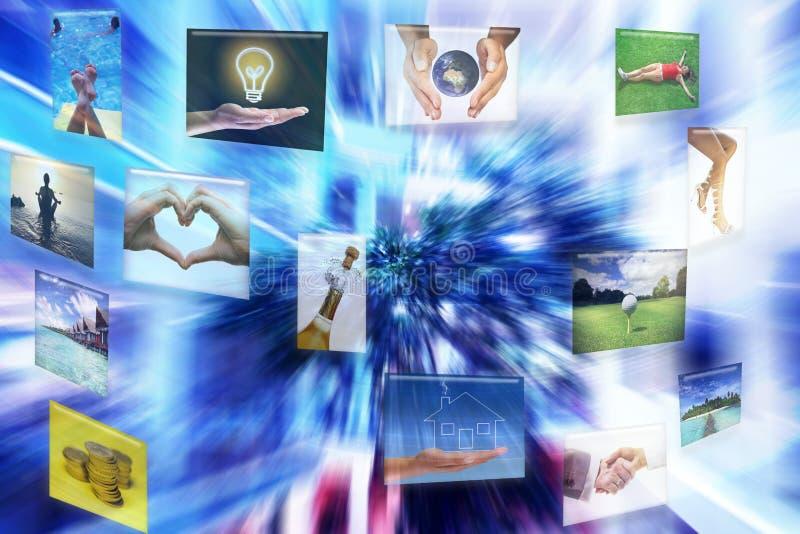 Interfaz virtual ilustración del vector