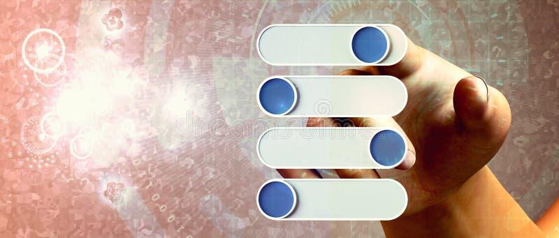 Interfaz virtual de la tecnolog?a stock de ilustración