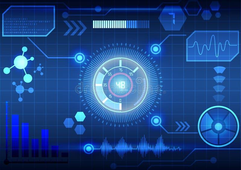 Interfaz virtual moderno del fondo de la tecnología ilustración del vector