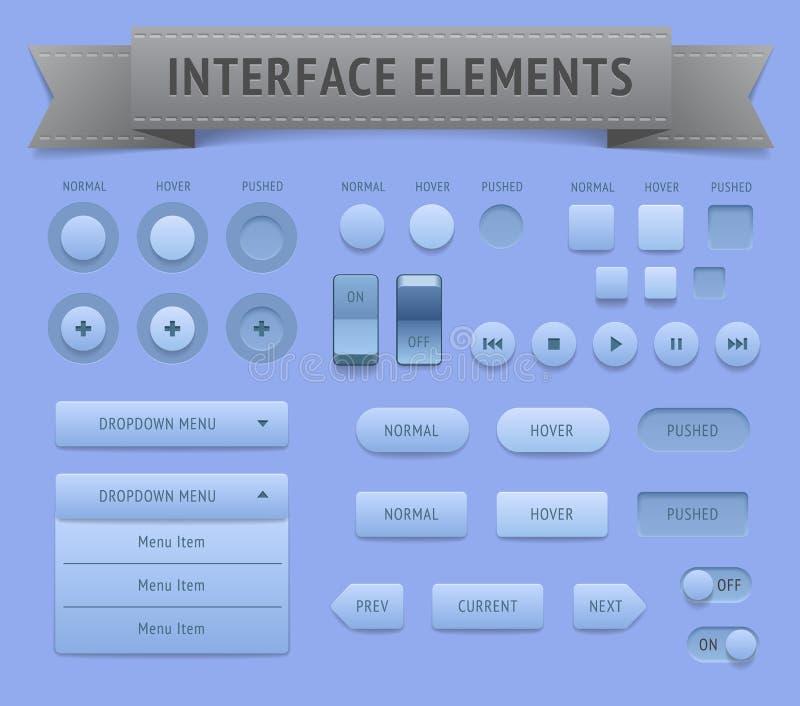 Interfejsów użytkownika elementy royalty ilustracja