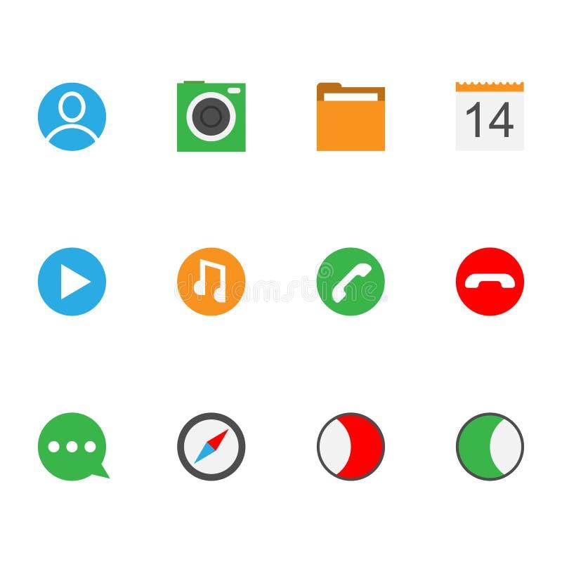 Interfejs ikony kolekcja ilustracja wektor