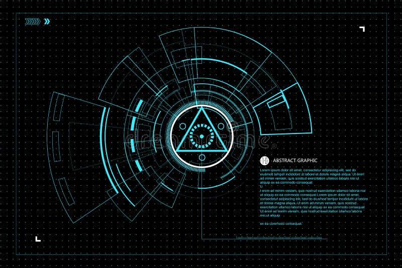 Interfejs technologia royalty ilustracja