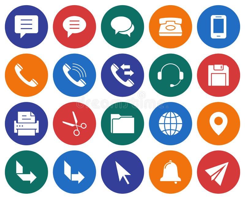 Interfejs użytkownika ikony ustawiać royalty ilustracja
