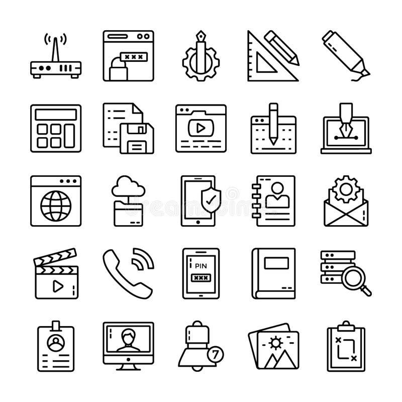 Interfejs U?ytkownika ikon paczka ilustracja wektor