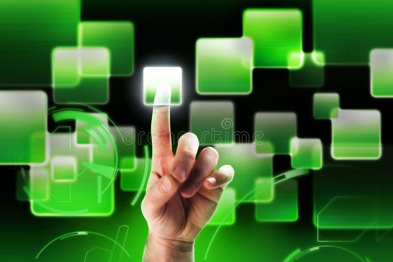 interfejs zielona wysoka technika fotografia stock
