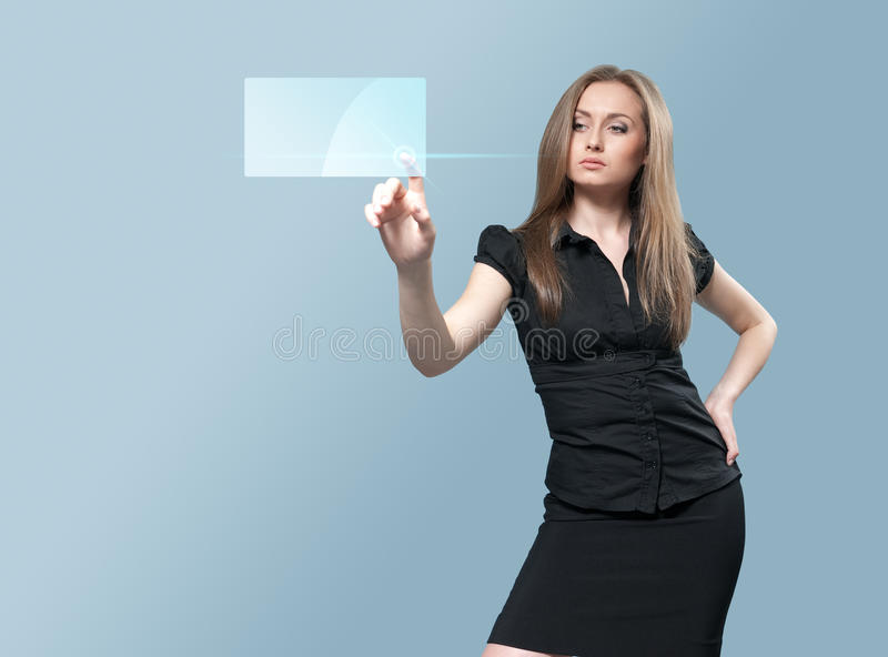 interfejsu przyszłościowy dotyk zdjęcie stock