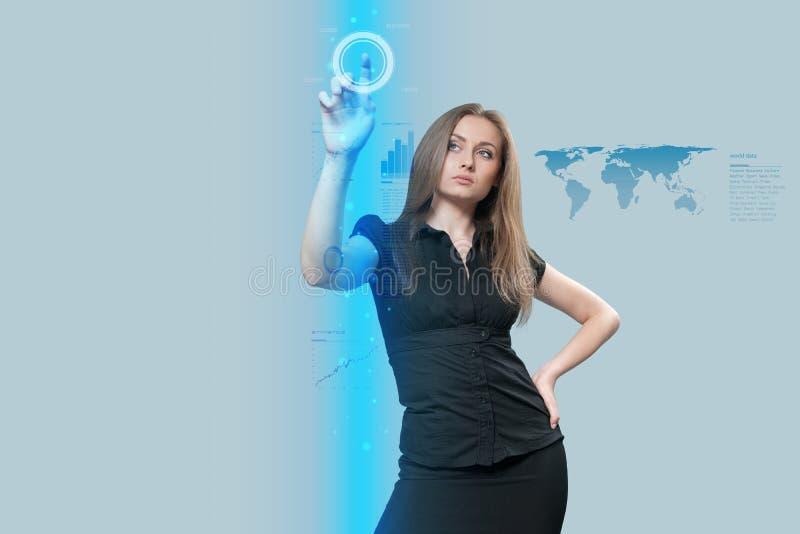 interfejsu przyszłościowy dotyk obraz royalty free
