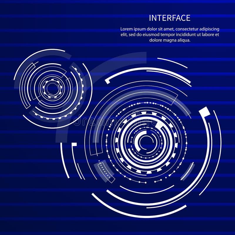 Interfejsu wizerunku teksta próbki wektoru ilustracja ilustracji