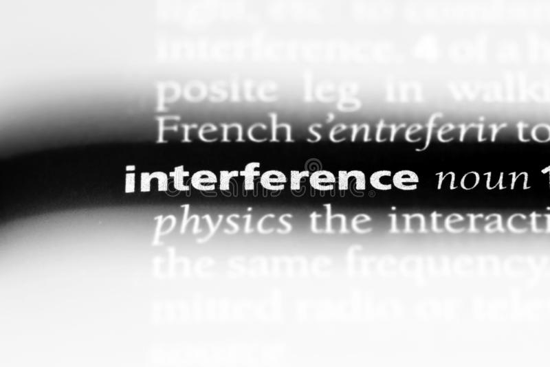 Interference. Word in a dictionary.  concept royalty free stock images