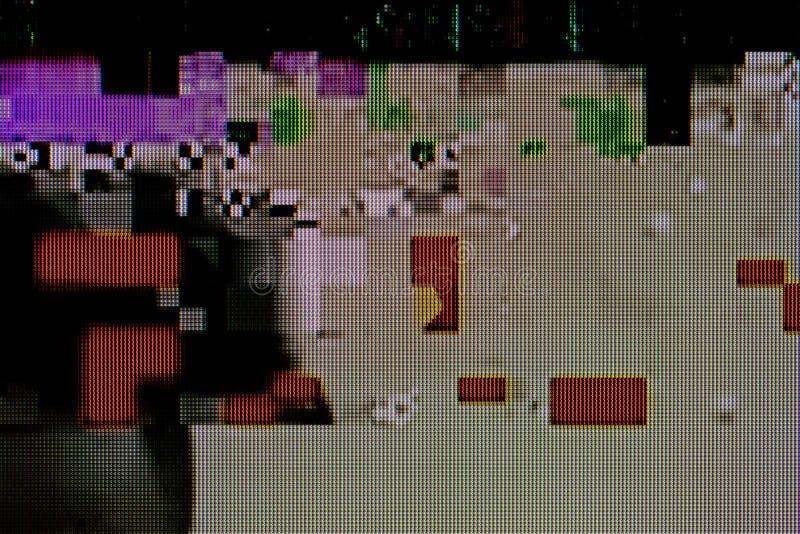 Interferencia roja de la señal de la TV stock de ilustración