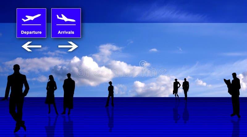 Interi stylisé de bureau d'aéroport illustration libre de droits