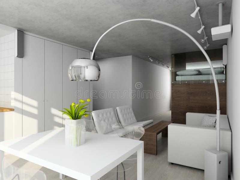 Download Interioir Da Sala De Visitas Moderna Ilustração Stock - Ilustração de minimalism, edifício: 10060920