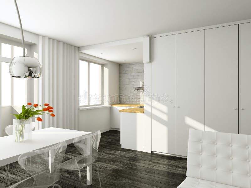 Interioir of modern living-room stock photography