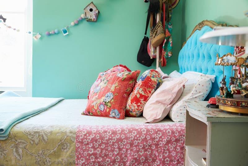 Interior à moda do quarto, detalhe foto de stock royalty free