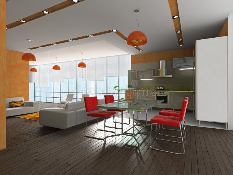 Interior às cozinhas ilustração stock