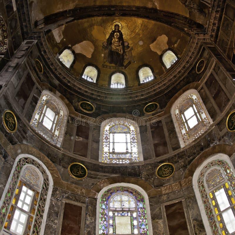 Interior 06 de Hagia Sofía foto de archivo libre de regalías