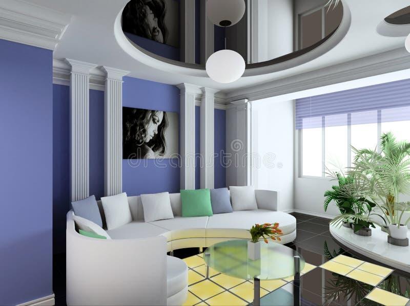 Download Interior stock illustration. Image of design, style, jalousie - 1040773