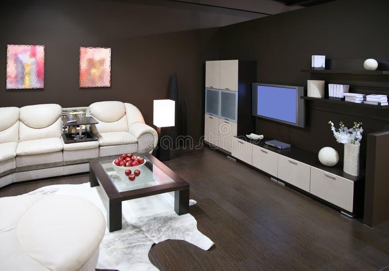 Interior 3 de la sala de estar imagenes de archivo