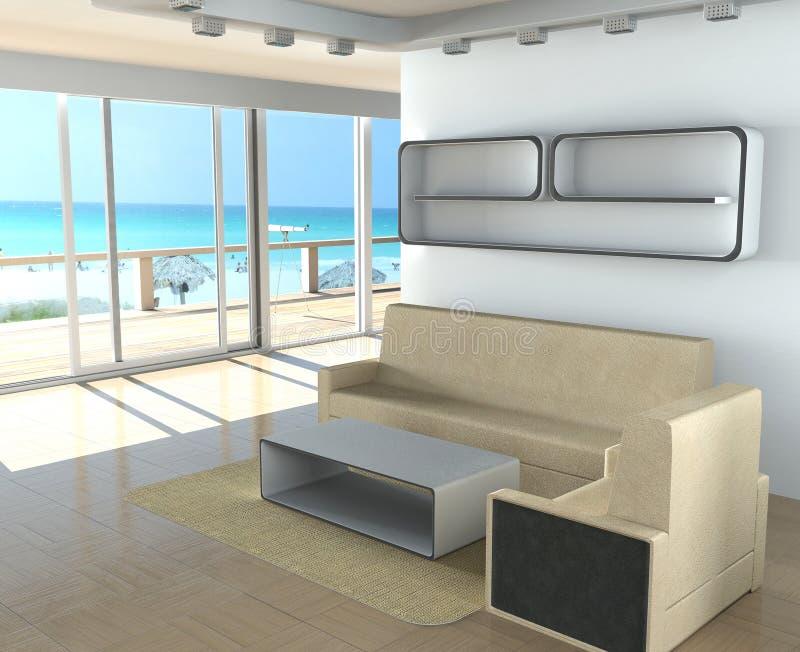 Download Interior stock illustration. Image of sofa, modern, neighbour - 3890355