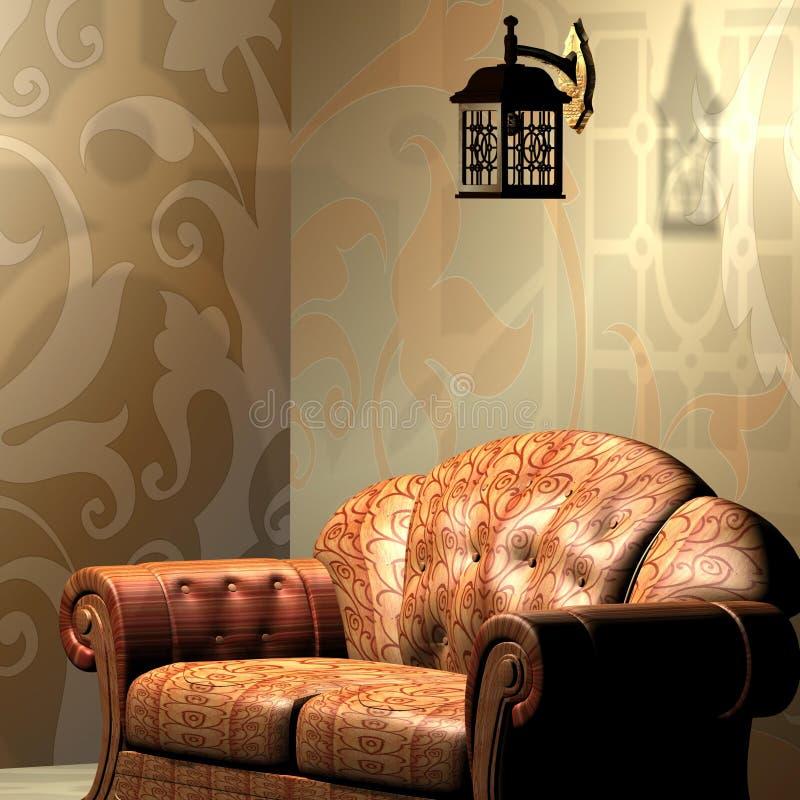 Interior 3d max royalty free stock image