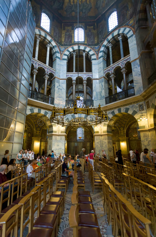 Interior Of Aachen Cathedral Germany Editorial Image