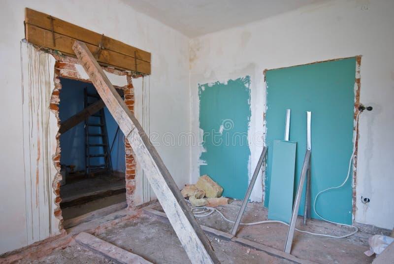 Interior abandonado imagem de stock