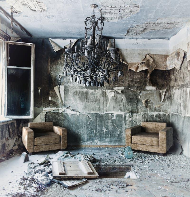 Interior abandonado imágenes de archivo libres de regalías
