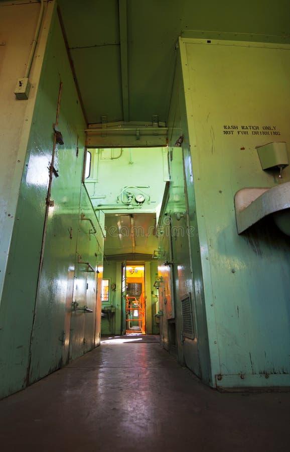 Interior abandonado do trem fotografia de stock