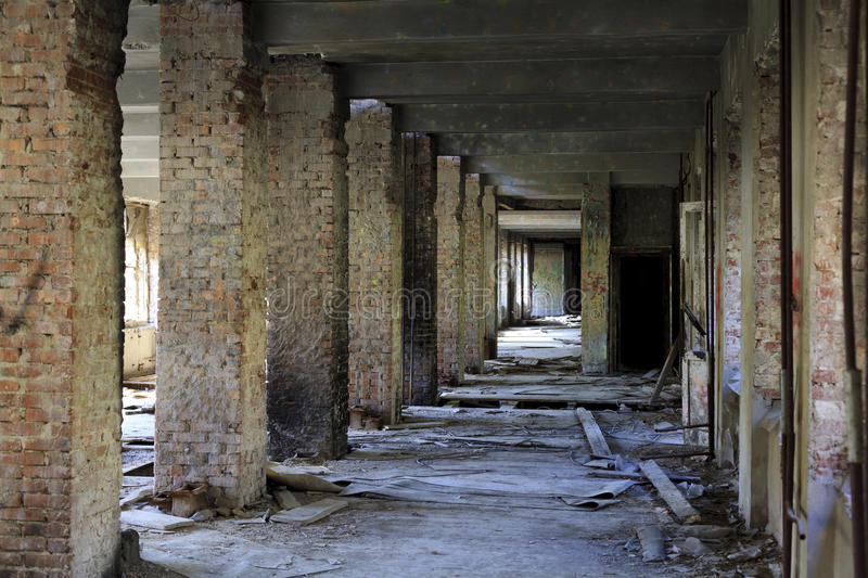 Download Interior Of An Abandoned Construction. Stock Photo - Image of catastrophe, broken: 19601784