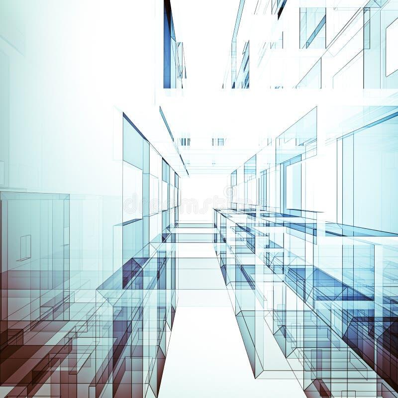 Download Interior abstracto stock de ilustración. Ilustración de wide - 42439903