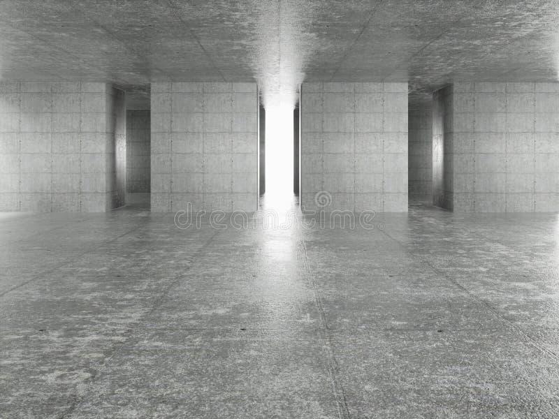 Interior abstracto de la configuraci?n stock de ilustración